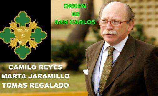 Embajador  Reyes, consul Jaramillo, daran , orden de San Carlos al alcalde de Miami Regalado.