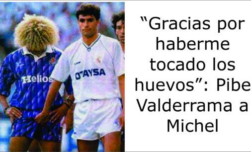 """""""Gracias por haberme tocado los huevos"""": Pibe Valderrama a Michel"""