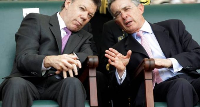 Uribe va ganandole a Santos