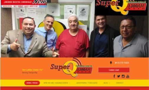 Visitamos en Tampa Fl.  la renovada radio am.  La superQ 1300 am con Jimmy Pizarro en Enfoque