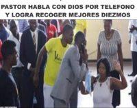 Pastor habla con Dios por telefono y logra recoger mejores diezmos video
