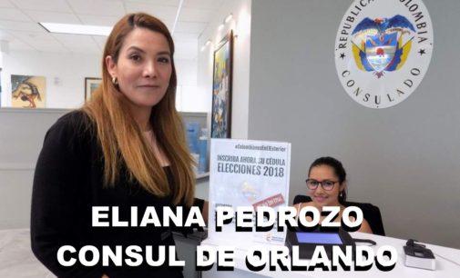 La eficaz consul de Orlando Eliana Pedrozo, consulado movil y votaciones