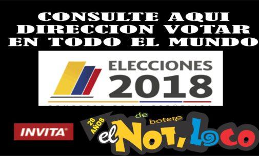 Consulta aqui en El Notiloco de Botero la direccion donde te toca votar en el mundo