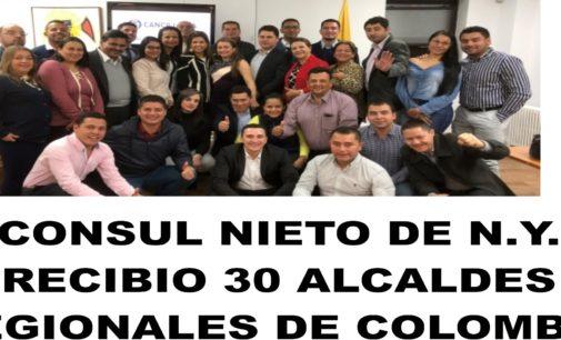 Consul de N. Y.Maria  Isabel Nieto recibió a mas de 30 alcaldes de las regiones de Colombia