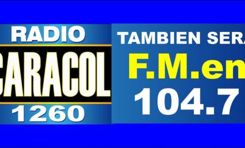 Caracol Miami tambien será F.M. en la 104.7 lo confirmo Luis Gutierrez que su esposa es colombiana.