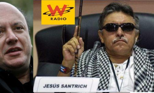 Santrich hablo en directo hoy con la W en la voz del mundo