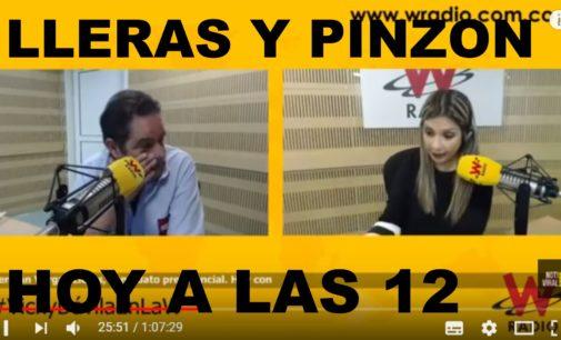 Vargas Lleras y Pinzon,  hoy a la 12 del dia,  hora de Colombia con Vicky Davila en la W