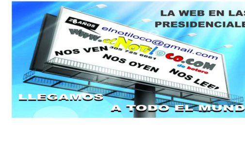 Los políticos se anuncian en El Notiloco de Botero, (SOMOS 3 EN 1) Nos oyen (Radio) Nos leen (Periódicos, Nos ven (Televisión) EN EL MUNDO  305 725 6661