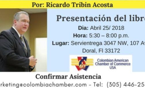Ricardo Tribin presenta su sexto libro en Servientrega de Miami