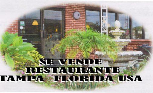 Se vende restaurante en Tampa Florida,  en la  Zona de Hillsborough preguntar por Juanita  727 743 3174