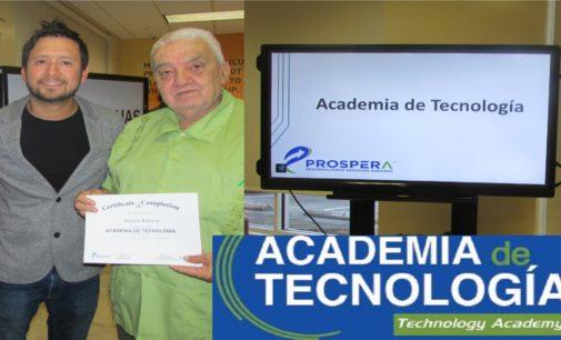 Grupo de empresarios de Tampa, recibimos de Prospera,y Hillsborough County, Certificado de la academia de tecnología