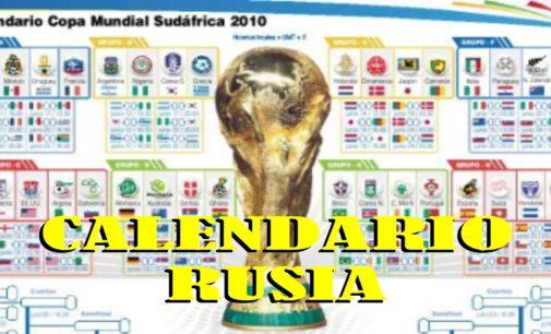 Descargue o Consulte aqui el calendario del Mundial Rusia 2018