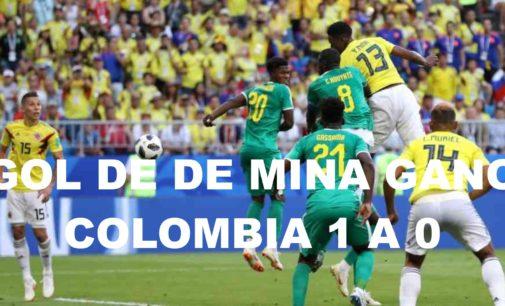 Con gol de de Mina gano Colombia  2 a 0