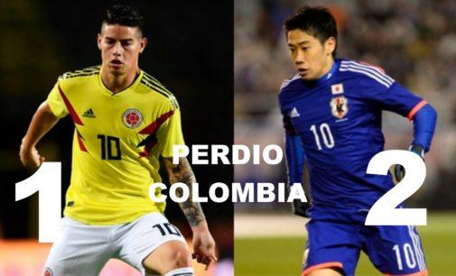 Perdio Colombia  2  por 1 contra Japon