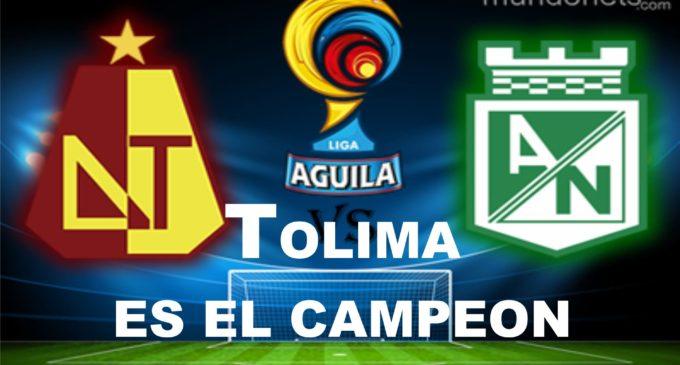 Tolima es el campeon del futbol colombiano