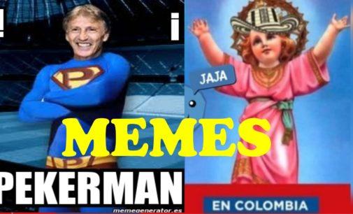 Memes gano Colombia 1 por 0