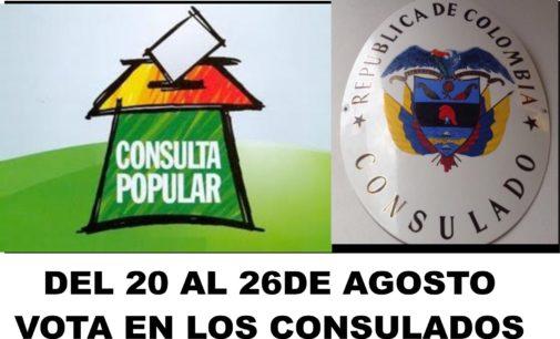 Llega información consulado Orlando, se podrá votar la Consulta Popular en todos los consulados