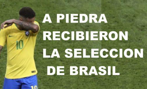 A piedra recibieron la selección de Brasil, La de Colombia con gratitud