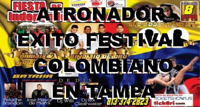 Atronador éxito del  Festival colombiano en Futbol 5 Tampa, los niños disfrutaron la tarde,  lo económico y lo artístico fue gracias a la buena