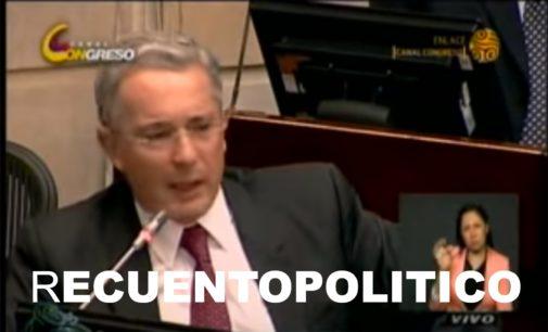 Uribe hace aquí balance de su  larga carrera política, Los generales, lo que quieren tapar, su Hermano,  La FAR y mas.