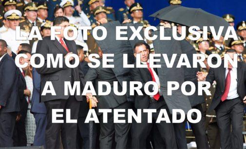 Llega la foto como fue sacado Maduro después del atentado