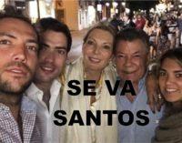 Martin el hijo de Santos despide a su papa de estos 8 años de gobierno asi
