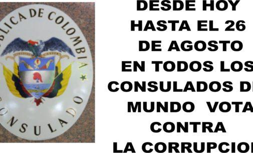 """Desde ya en los consulados del mundo puedes votar contra la corrupcion  """"Compartelo"""""""