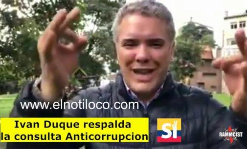 """Duque, apoya la consulta anticorrupción, elnotiloco.com  invita a votar en todo el mundo """"7 veces si"""""""