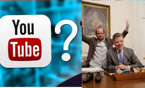 Santos se despide con humor de los colombianos de youtuber, con Daniel Samper al estilo gringo