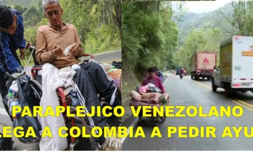La odisea de un venezolano parapléjico para buscar medicina en Colombia