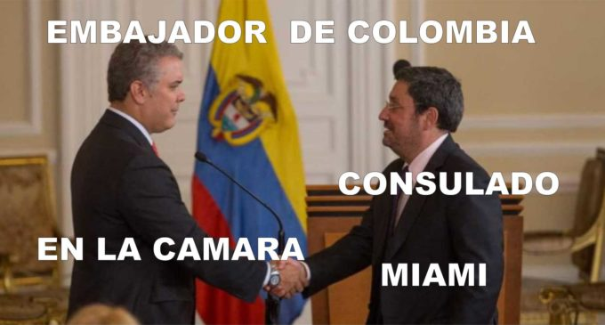 Marta Jaramillo consulado de Miami, Ana María Piñeres de la Cámara, invitan almuerzo y encuentro con la comunidad embajador de Colombia