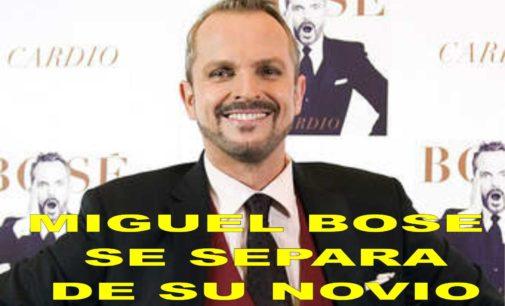 Miguel Bosé rompe con su novio y se reparten los cuatro hijos
