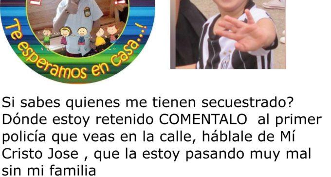 Rescataron al niño Cristo José Contreras (Noticia confirmada en desarrollo)
