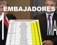 El canciller Holmes anunció 11 nuevos embajadores para Colombia