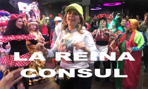 Rumba  despedida  del Cónsul N.Y. María Isabel Nieto en discoteca la  Booom  baile, comida, bebida con ron pa todo el mundo