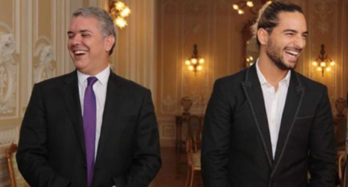 Extenso diálogo de economía naranja entre Duque y Maluma