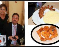 Pacho Santos almorzó colombiano Hotel Bilmore Miami chicharrón arepa y empanadas, lente de Lucia, hablo con la familia, Felipe Arias