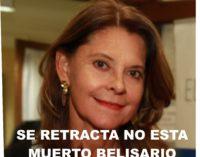 Desmienten familiares la muerte de Belisario Betancur  anunciada por la vicepresidenta Marta Lucia.