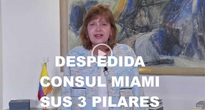 La cónsul Marta Jaramillo se despide de la comunidad colombiana con este video, cumpliendo sus 3 pilares