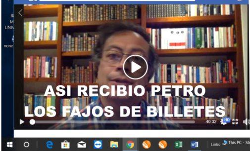 """Video completo donde Petro da explicaciones cuando recibe los fajos de billetes. Aquí lo que no se sabía """"La sexta Porra"""