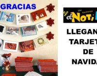 legaron tarjetas de todo el mundo: la embajada de Portugal, Beatriz Parga, Gustavo Castro Caycedo, y muchos amigos del Notiloco de Botero