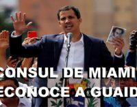 Consul general Venezuela Miami, desconoce a Nicolás Maduro y acepta como único líder a Juan Guaido.