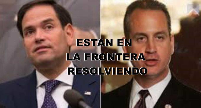 El senador Marco Rubio, el congresista Mario Diaz Balart  USA están hoy en Colombia en Cucuta, (EN DESARROYO)