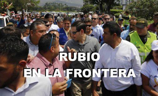 Marco Rubio y su esposa de origen colombiano, se congregaron en la frontera en Cucuta,  para organizar la distribución de la ayuda
