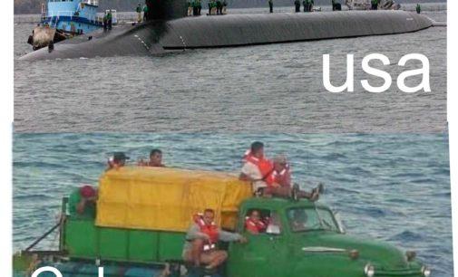 Divulgan foto, submarino de EE.UU encontró este submarino cubano apoyando a Maduro en aguas de Colombia