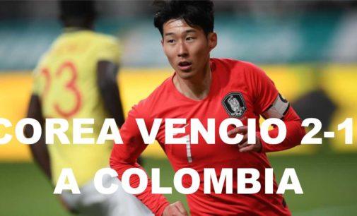 Corea derroto 2 a 1 a Colombia