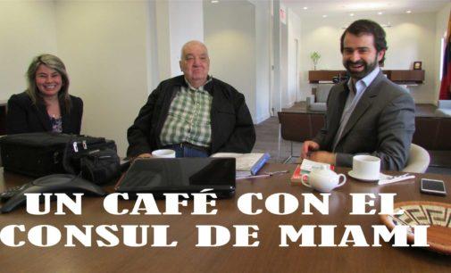 El cónsul de Miami, no solo es el Hermano de Paloma, nos tomamos un café con El y tenemos su vanidoteca