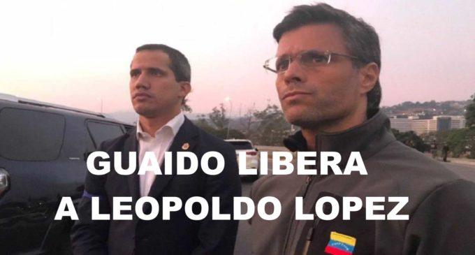 Guaido libera a Leopoldo Lopez de la cárcel