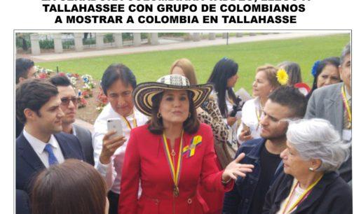 Annette Taddeo, Cindy Polo, cónsul Miami Valencia, un grupo de colombianos  con gran éxito celebraron en Tallahassee el día de Colombia