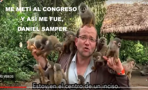 Me metí al congreso y así me fue, no guarde mis objetos de valor, grave  en corredores a senadores, vi cocinar una ley . Daniel Samper
